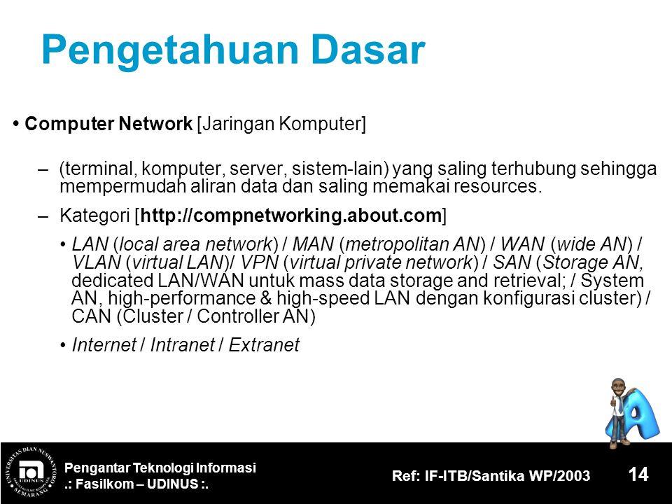 Pengetahuan Dasar • Computer Network [Jaringan Komputer]